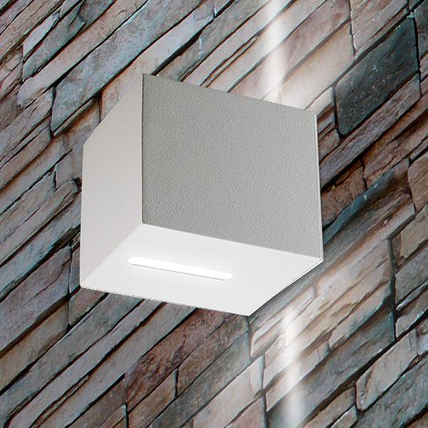 Gaga Lamp Design LED Wandleuchte YK Cube I 80lm sand weiß warmton