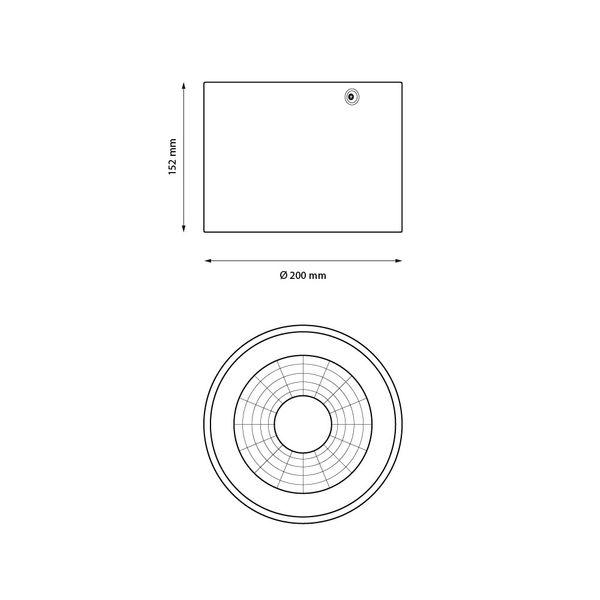 Gaga Lamp Design LED Deckenleuchte YK Circle 2800lm sand weiß warmton Bild 4