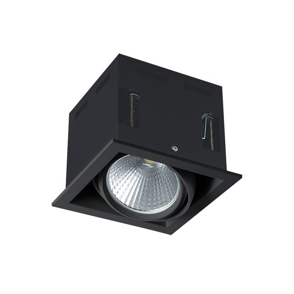 CLE LED Kardan Einbauleuchte schwarz YK1 für Fortimo SLM LED Modul IP20