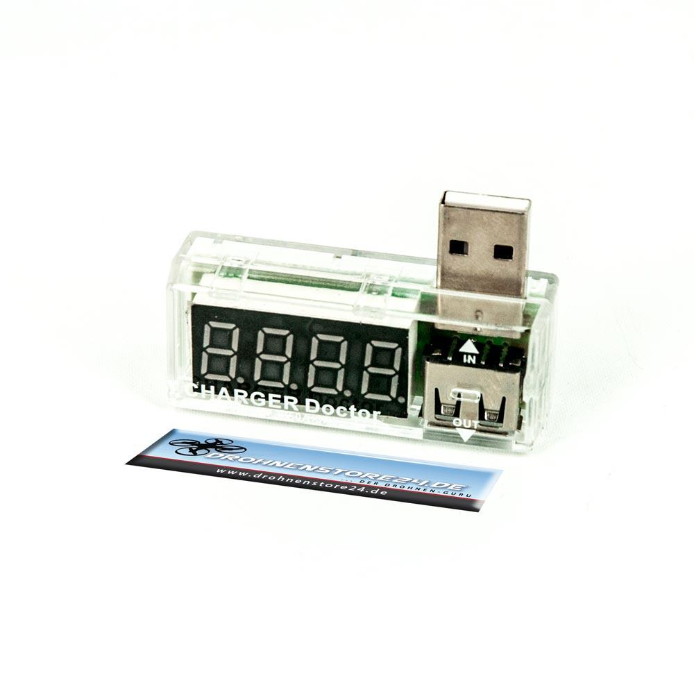 DS24 USB Multimeter Volt und Amperemeter Drohnen Quadrocopter Spannungsmesser Zubehör