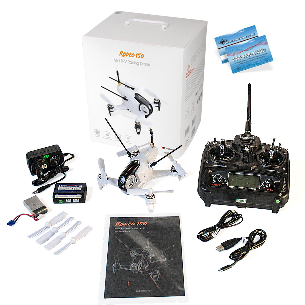 Walkera Rodeo 150 mit DEVO7 600TVL Camera Copter Card