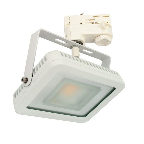 CLE LED Floodlight Stromschienstrahler Weiß 20W 3500K Neutralweiß 3 Phasen Adapter
