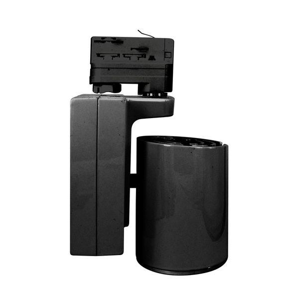 CLE LED Strahler 3 Phasen Stromschiene warmweiß schwarz 3400lm inkl. Reflektor Adapter
