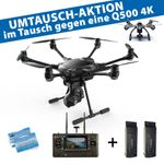 Yuneec Q500 4K Upgrade-Set auf Typhoon H 2x Akku 4K CGO3+ ST16 Anti-Collision