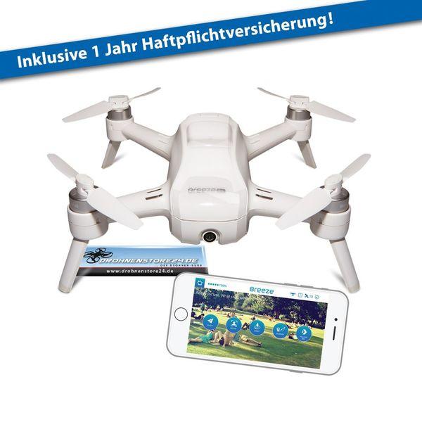 YUNEEC Breeze Drohne inkl. Haftpflichtversicherung Quadrocopter  – Bild 1