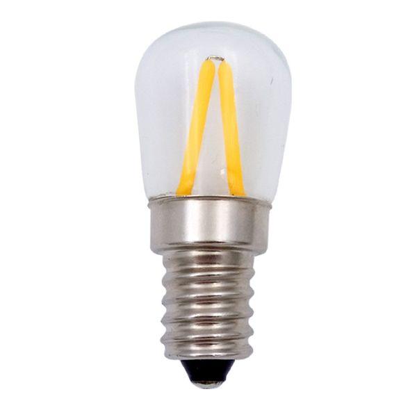 CLE LED Filament 4W Ersatz für Glühlampe E14 15W klar 160lm 3000k Kühlschranklampe
