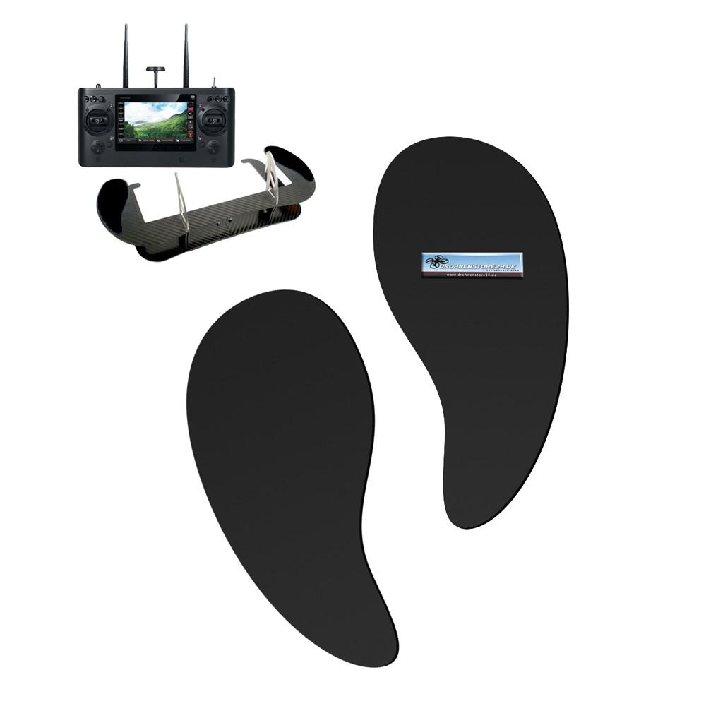 Handauflagen für Senderpulte - zum Beispiel für Yuneec ST16 ST16S ST24 Senderpult - Farbe schwarz - sehr bequem -  Profi Zubehör von AHLtec