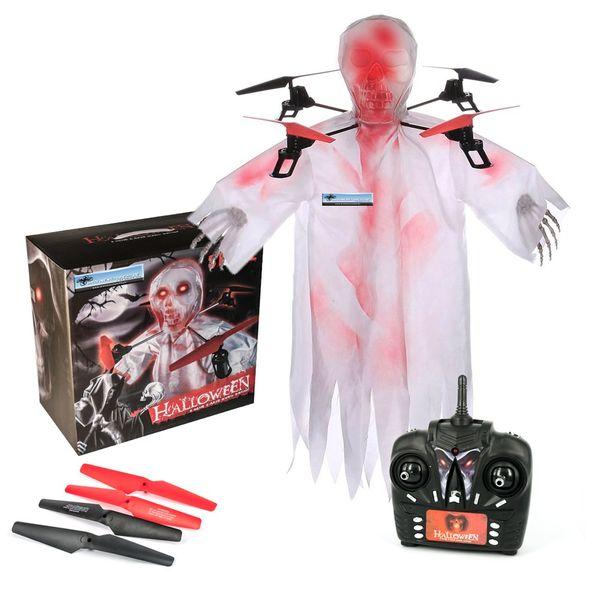 DS24 Geister Skelett Drohne 1031 Quadrocopter Halloween Skull Höhenstabil Geist Drone – Bild 1