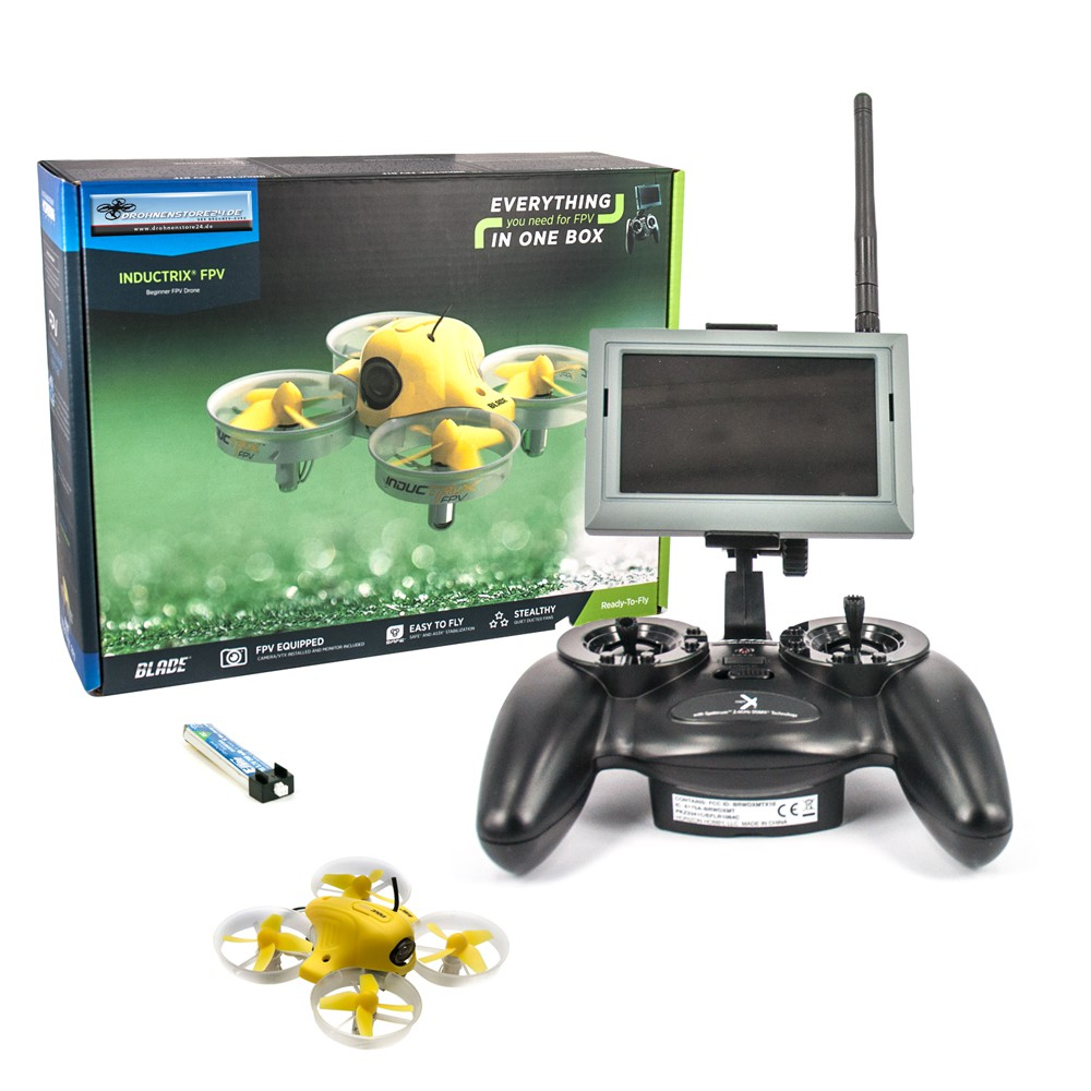 Blade Inductrix Mini FPV Quadrocopter - mit 4.3 Zoll Monitor und MLPD4 Sender - Ready to fly - RTF