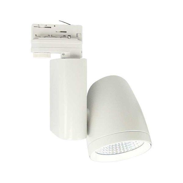 CLE LED Strahler Philips FORTIMO 3 Phasen Stromschiene TL02 45 Grad Weiß 3600lm inkl. Reflektor, Adapter – Bild 3