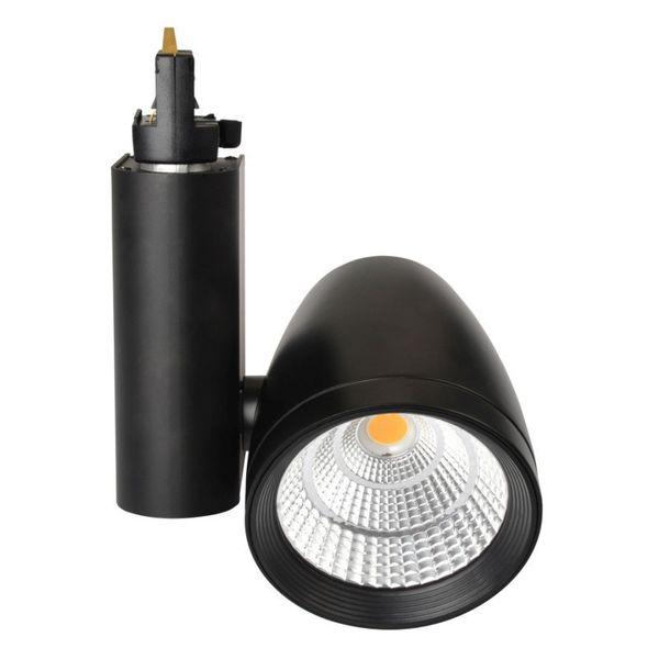 CLE LED Strahler Philips FORTIMO 3 Phasen Stromschiene TL02 45 Grad Schwarz 3400lm inkl. Reflektor, Adapter