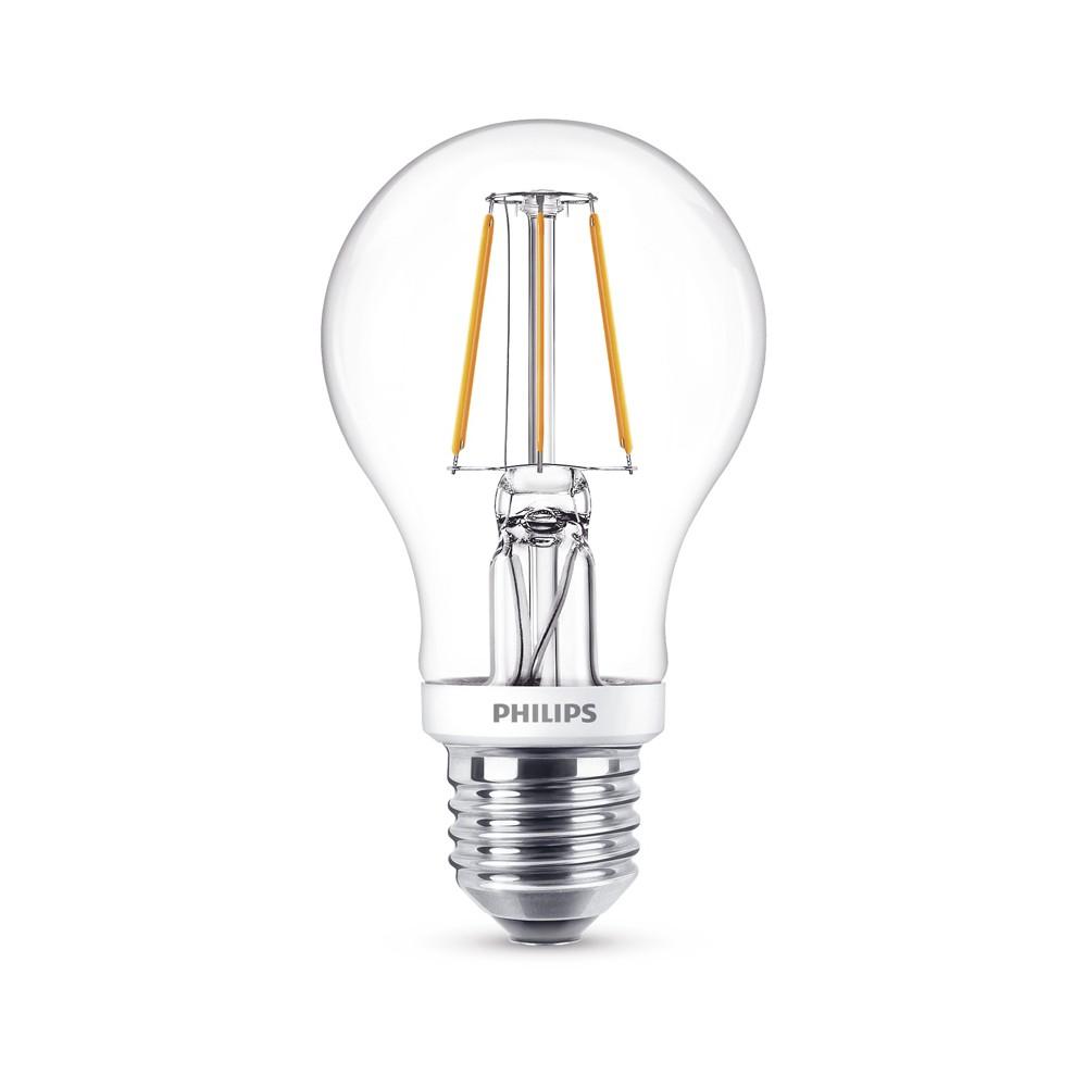 Philips Classic LEDbulb 4W = 40W E27 470lm 827 A60 klar FIL warmweiß -*A