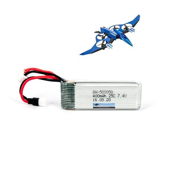 DS24 Ersatz Akku für JXD Pterosaurs 511V Drohne - LiPo 7.4V 400mAh – Bild 1