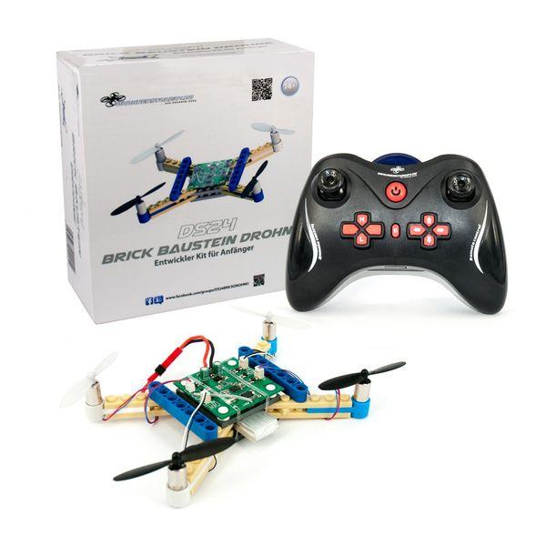 DS24 Baustein Quadrocopter FAN PACKET mit Ersatz Akku und DS24 Cap  - die Brick Drohne zum Selbstbauen  – Bild 4