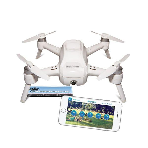 YUNEEC Breeze Quadrocopter + Ersatz Akku - Drohne mit 4K UHD Kamera – Bild 2