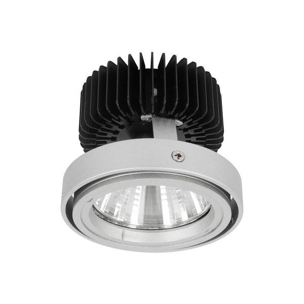 CLE LED Umrüsteinsatz für Kardan Einbauleuchten Alugrau inklusive Kühlkörper Reflektor 32 Grad