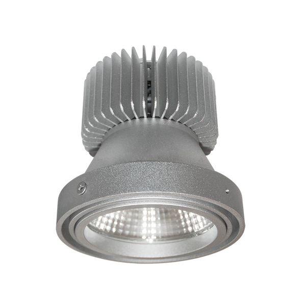 CLE LED Umrüsteinsatz für Kardan Einbauleuchten Alugrau inklusive Kühlkörper Reflektor
