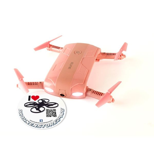 JJRC H37 Elfie Drohne in ROSA LOVE520 Limited Edition - MINI Selfie Quadrocopter WIFI FPV  – Bild 2