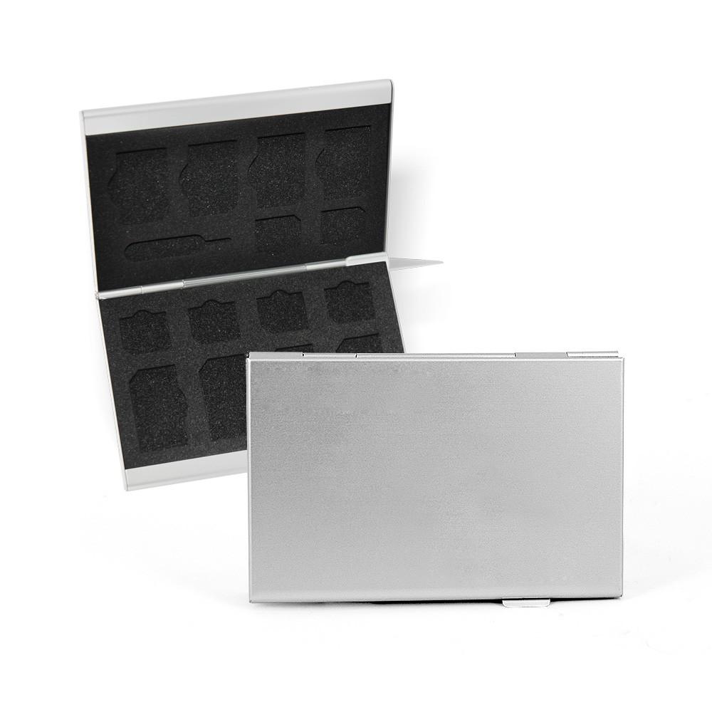 DS24 FLYSAFE Alubox für Standard SIM -  Nano SIM Karten und Platz für eine iPhone Nadel
