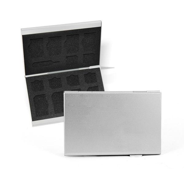 DS24 FLYSAFE Alubox für Standard SIM -  Nano SIM Karten und Platz für eine iPhone Nadel – Bild 1