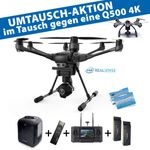 Yuneec Q500 4K Upgrade-Set auf Typhoon H Pro Version Intel Realsense Rucksackset 2x Akku,Wizard, 4K, CGO3+, ST16
