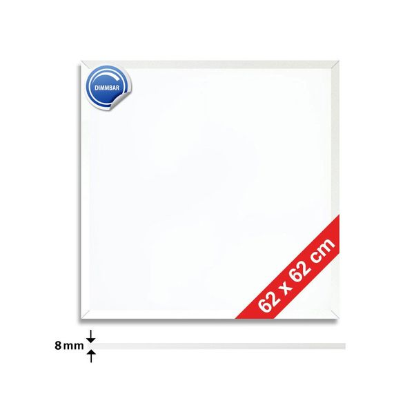 CLE Ultra Slim LED Panel weiß 3600lm 62x62cm neutralweiss 4000k dimmbar – Bild 3