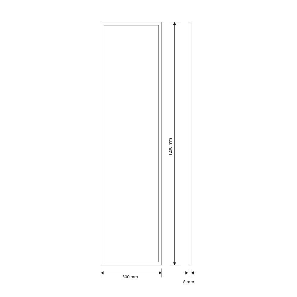 CLE Super Slim Aufbaurahmen in Weiß für LED Panels 30x120cm DIY CLE ...