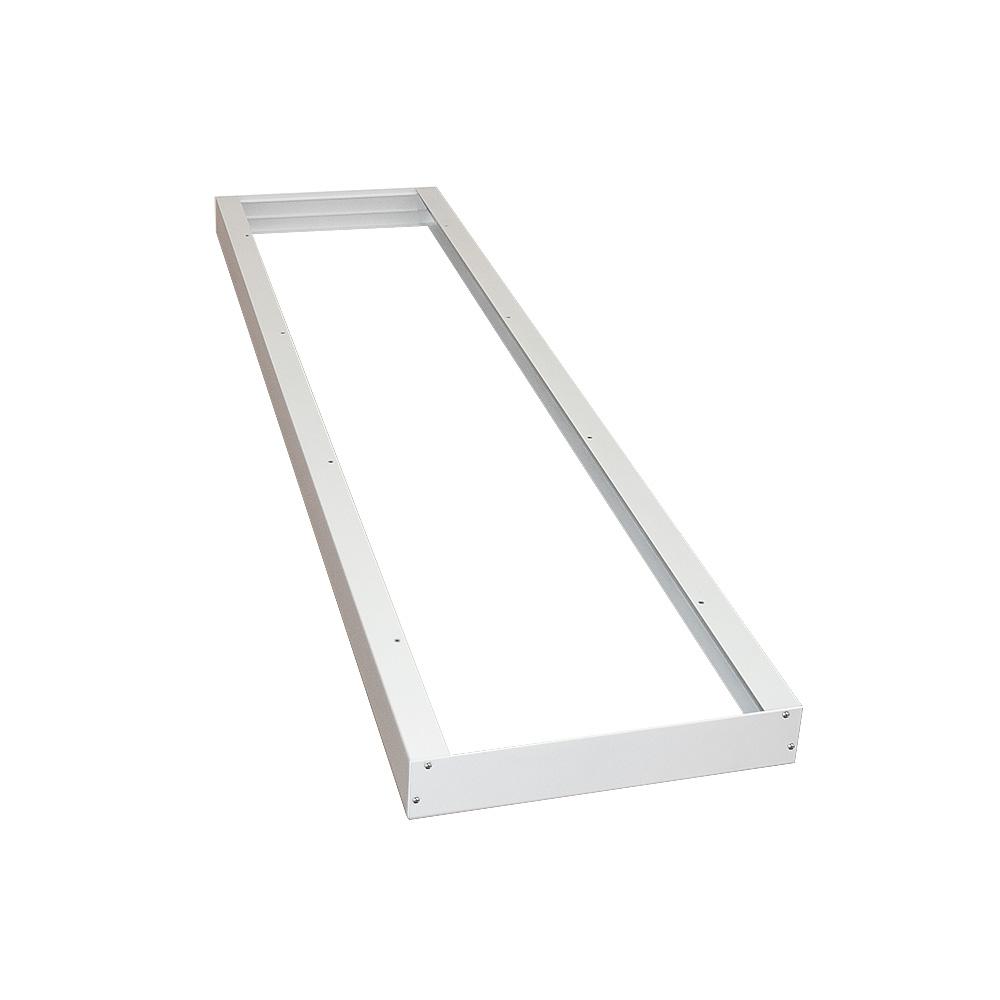 CLE Super Slim Aufbaurahmen in Weiß für LED Panels 30x120cm DIY