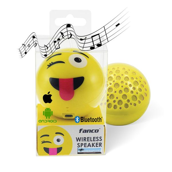 DS24 Wireless Lautsprecher Emoticon JOKE Optik Bluetooth Speaker Sound Box – Bild 1