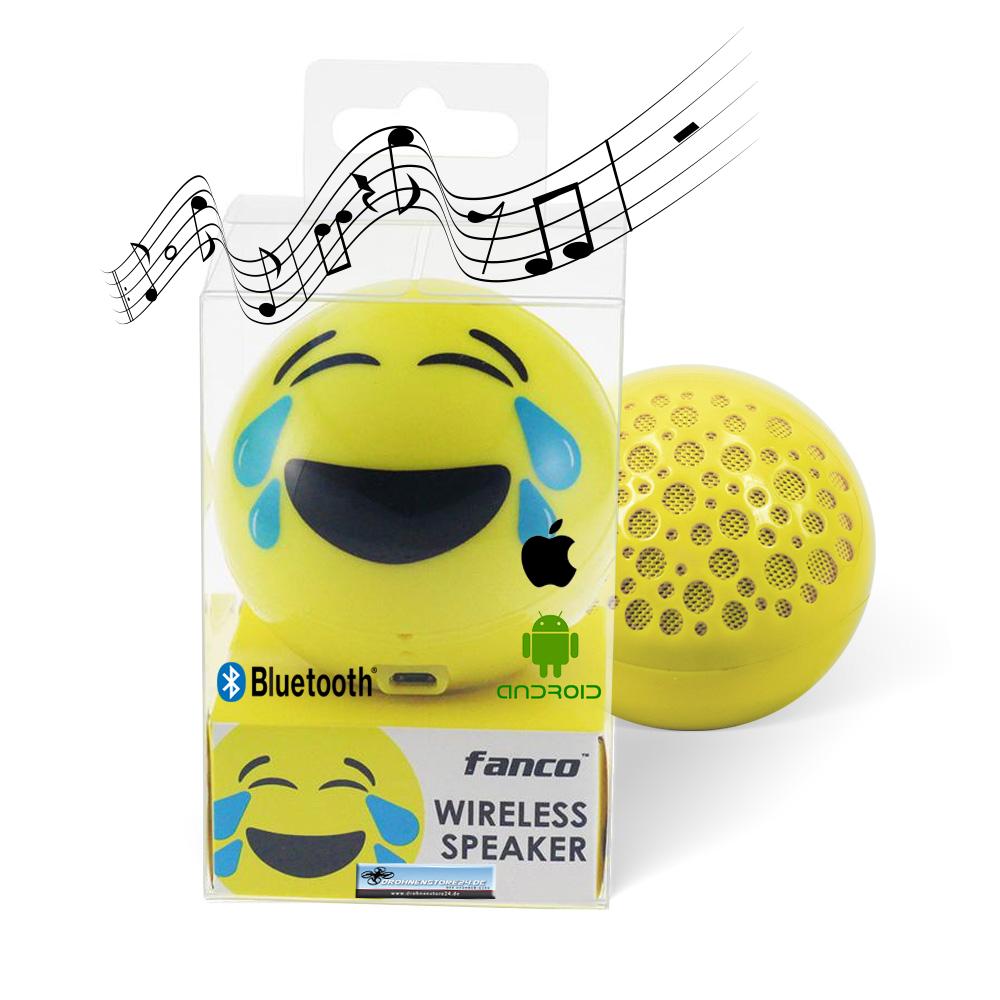 DS24 Wireless Lautsprecher Emoticon LAUGH Optik Bluetooth Speaker Sound Box