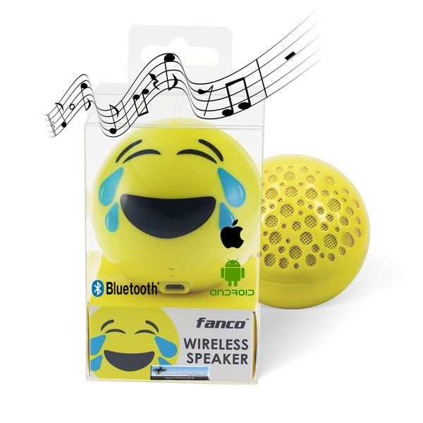 DS24 Wireless Lautsprecher Emoticon LAUGH Optik Bluetooth Speaker Sound Box – Bild 1