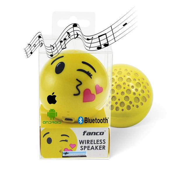 DS24 Wireless Lautsprecher Emoticon KISS Optik Bluetooth Speaker Sound Box – Bild 1