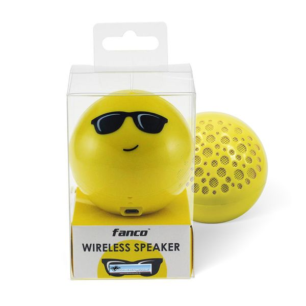 DS24 Wireless Lautsprecher Emoticon COOL Optik Bluetooth Speaker Sound Box – Bild 6