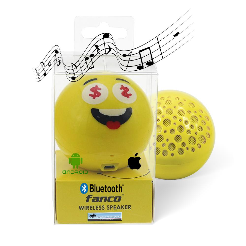 DS24 Wireless Lautsprecher Emoticon MONEY Optik Bluetooth Speaker Sound Box