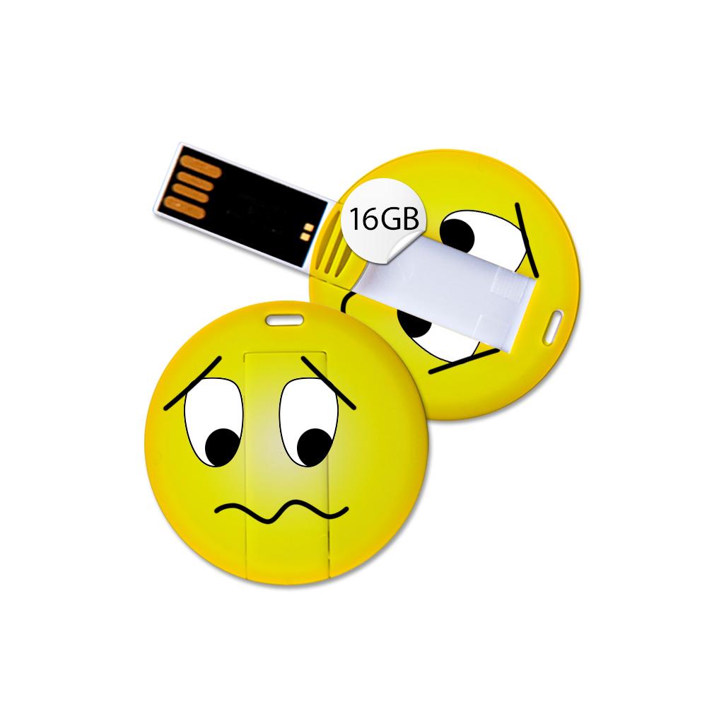 USB Stick in Emoticon Optik - betrübt - 16GB Speicher