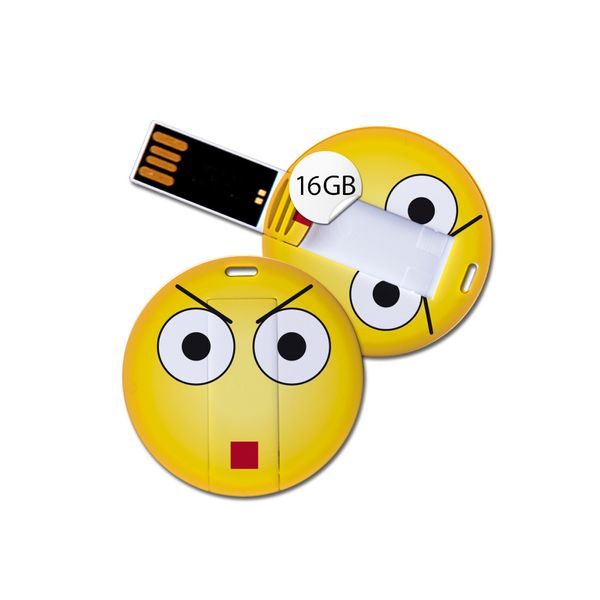 USB Stick in Emoticon Optik - genervt - 16GB Speicher