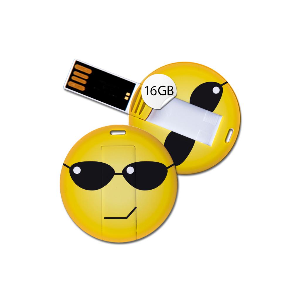 USB Stick in Emoticon Optik - cool - 16GB Speicher