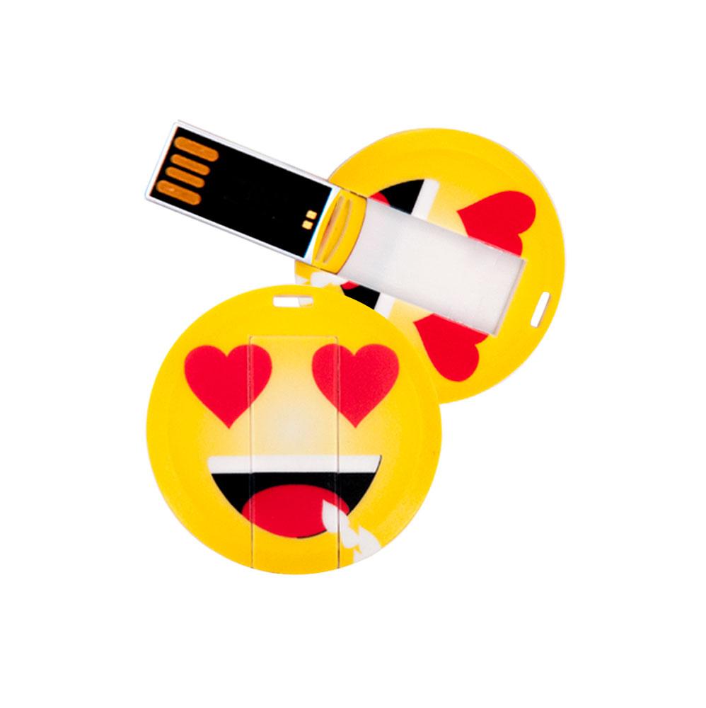 USB Stick in Emoticon Optik - verliebt - 16GB Speicher