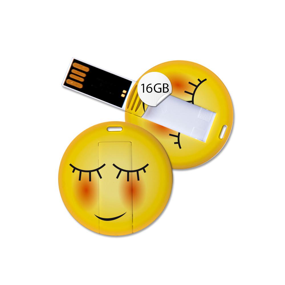 USB Stick in Emoticon Optik - niedlich - 16GB Speicher