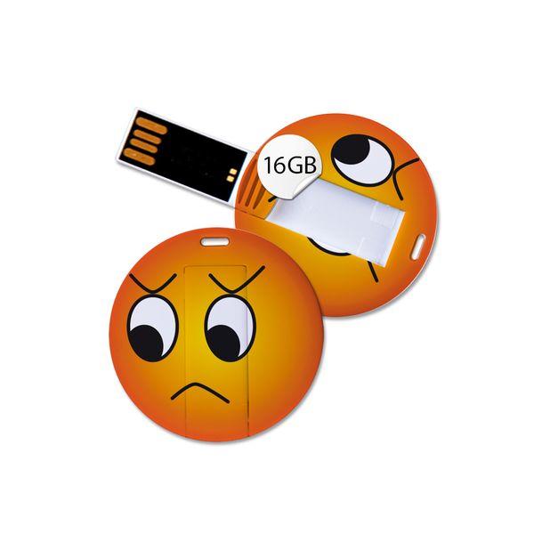 USB Stick in Emoticon Optik - unglücklich - 16GB Speicher