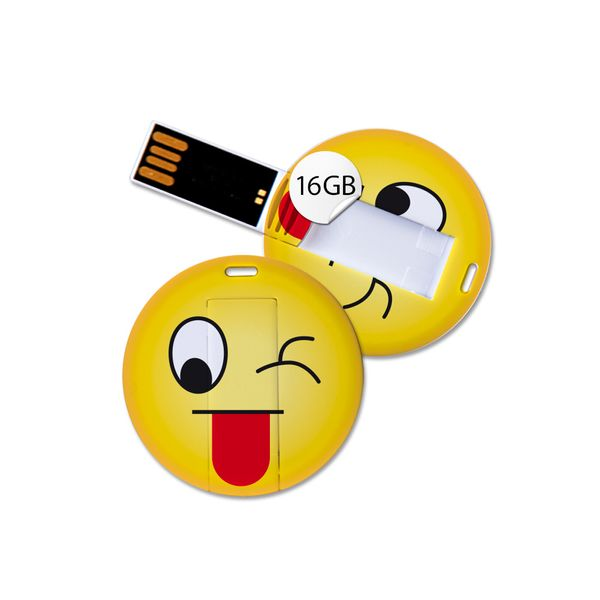 USB Stick in Emoticon Optik - zwinkern - 16GB Speicher