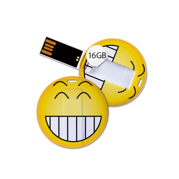 USB Stick in Emoticon Optik - breites Grinsen - 16GB Speicher