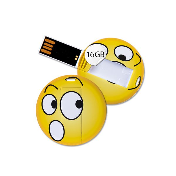 USB Stick in Emoticon Optik - erschrocken - 16GB Speicher