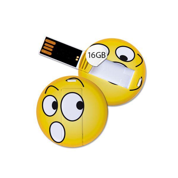 USB Stick in Emoticon Optik - erschrocken - 16GB Speicher