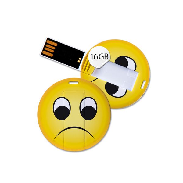 USB Stick in Emoticon Optik - traurig - 16GB Speicher