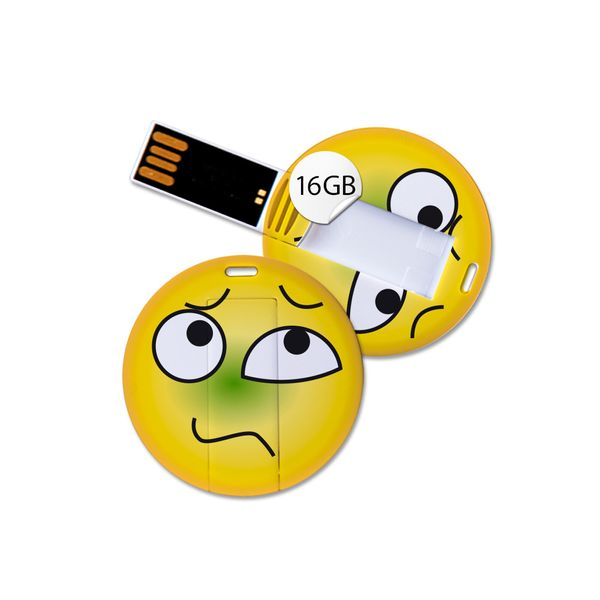 USB Stick in Emoticon Optik - krank - 16GB Speicher