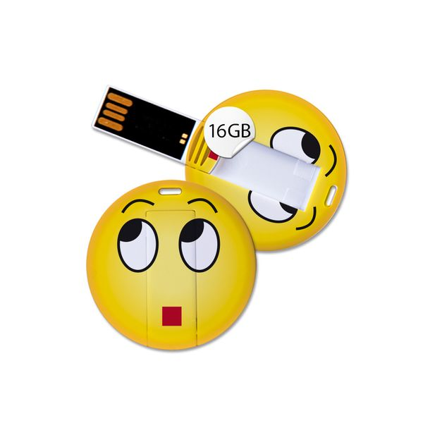 USB Stick in Emoticon Optik - verwundert - 16GB Speicher
