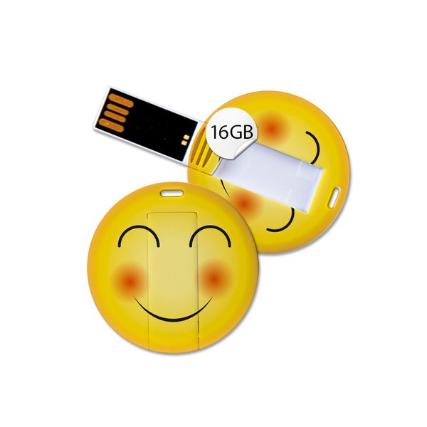 USB Stick in Emoticon Optik - fröhlich - 16GB Speicher