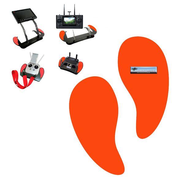 Handauflagen für Senderpulte - zum Beispiel für Yuneec oder DJI Mavic Senderpult - Farbe rot - sehr bequem -  Profi Zubehör von AHLtec – Bild 1