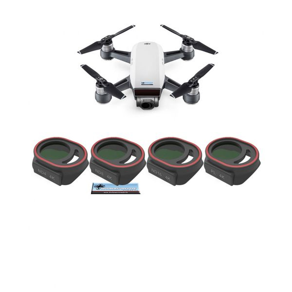 Premium Filter Set für DJI Spark - CPL, ND4, ND8, ND16 - Freewell - Standard Day